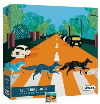 gibson 500 piece jigsaw Abby road foxes