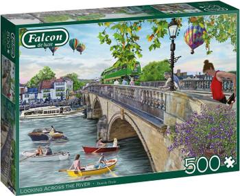 Falcon de luxe 500 piece jigsaw Looking across the river