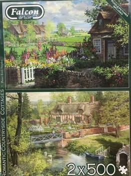 Falcon de luxe romantic countryside cottages 2 x 500 piece jigsaw