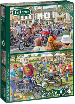 Falcon de luxe 1000 piece jigsaw The motor cycle show