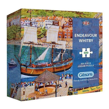 Endeavour Whitby 500 piece jigsaw gift box