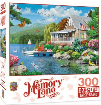 Masterpieces Puzzle Memory Lane Lakeside Memories Ez Grip Puzzle 300 pieces