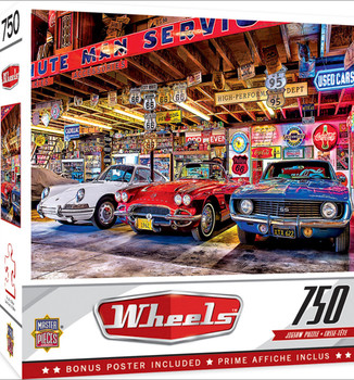 Masterpieces Puzzle Wheels Triple Threat Puzzle 750 pieces