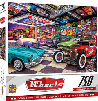 Masterpieces Puzzle Wheels Collector's Garage Puzzle 750 pieces
