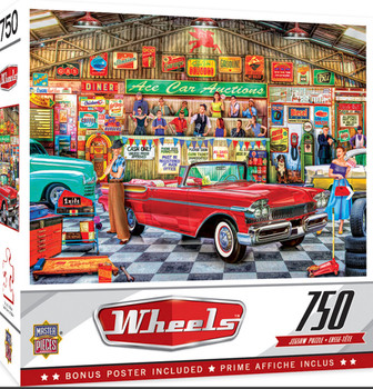 Masterpieces Puzzle Wheels the Auctioneer Puzzle 750 pieces