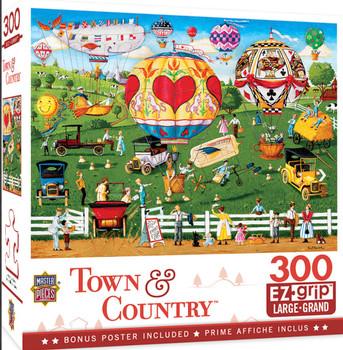 Masterpieces Puzzle Town & Country Flights of Fancy Ez Grip Puzzle 300 pieces