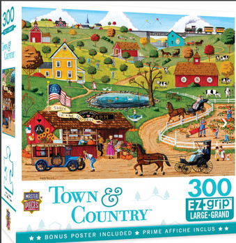 Masterpieces Puzzle Town & Country Share in the Harvest Ez Grip Puzzle 300 pieces