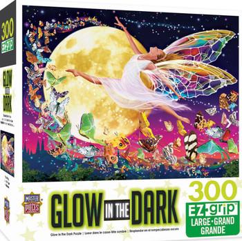 Masterpieces Puzzle Glow in the Dark Moon Fairy Ez Grip Puzzle 300 pieces