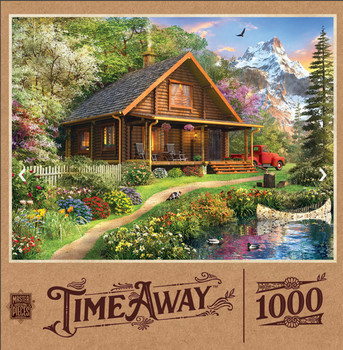 Masterpieces Puzzle Time Away Mountain Retreat Puzzle 1000 pieces