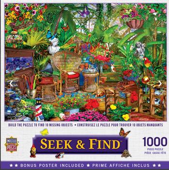 Masterpieces Puzzle Seek & Find Garden Hideaway Puzzle 1000 pieces