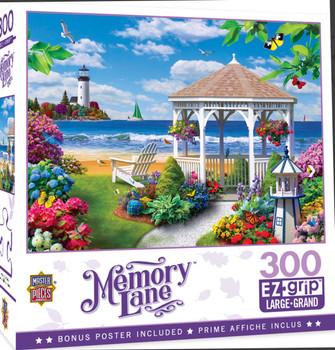Masterpieces Puzzle Memory Lane Oceanside View Ez Grip Puzzle 300 pieces