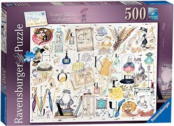 Ravensburger 500 piece jigsaw crazy cats Alphabets
