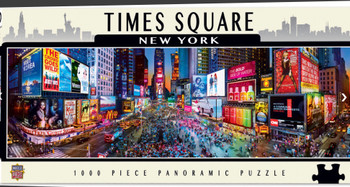 2 Masterpieces Puzzle City Panoramic New York Times Square Puzzle 1000 pieces