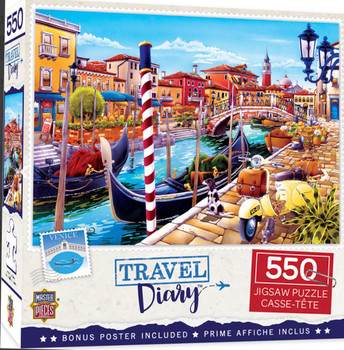 Masterpieces Puzzle Travel Diary Venice Puzzle 550 pieces