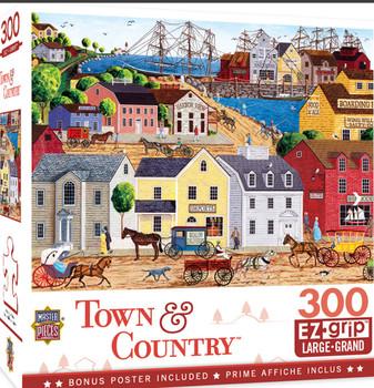 Masterpieces Puzzle Town & Country Home Port Ez Grip Puzzle 300 pieces