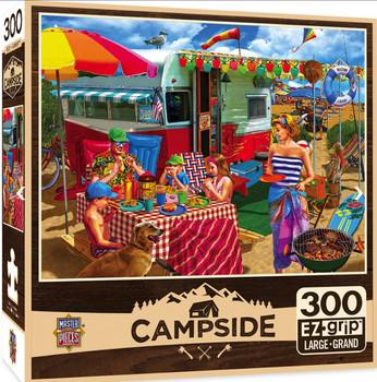 2 Masterpieces Puzzle Campside Trip to the Coast EZ Grip Puzzle 300 pieces