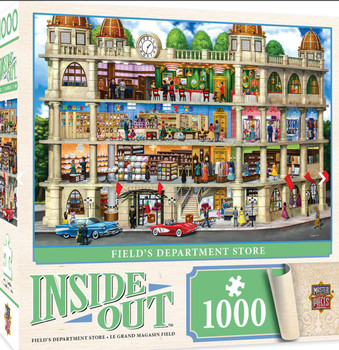 2 Masterpieces Puzzle Inside Out Fields Department Store Puzzle 1000 pieces