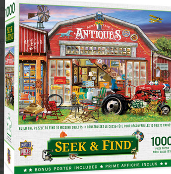 Masterpieces Puzzle Seek & Find Antiques for Sale Puzzle 1000 pieces