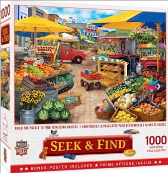 Masterpieces Puzzle Seek & Find Market Square Puzzle 1000 pieces