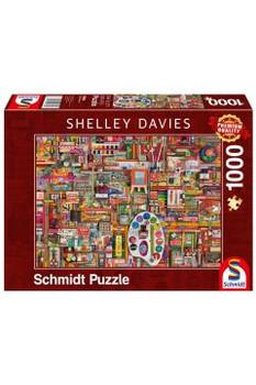Shelley Davies 1000 piece jigsaw Schmidt vintage materials