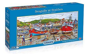 Gibson 636 pieces jigsaw seagulls at staithes