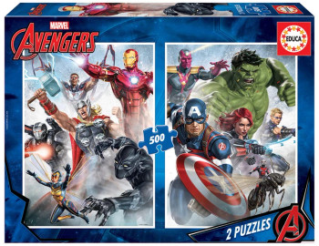 Educa marvel avengers 2 x 500 piece jigsaw