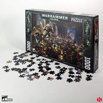 Warhammer jigsaw 1000 piece gulliman vs black legion