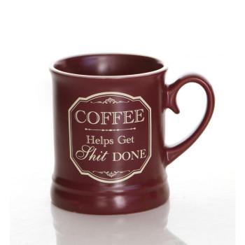 Coffee helps get ssh*t done mug