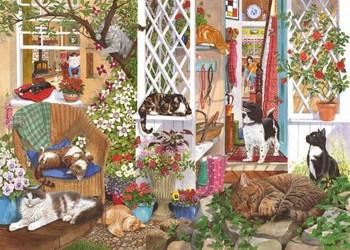Feline fine 1000 piece jigsaw