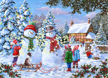 Glow in the snow 1000pc jigsaw house of puzzles