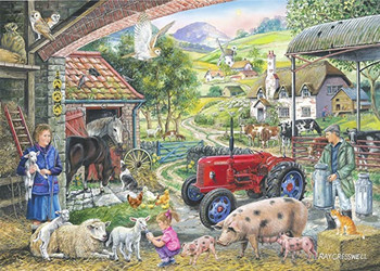 On the farm 1000pc jigsaw house of puzzle