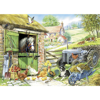 Down on the farm big 260pc jigsaw house of puzzles