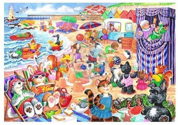 At the seaside 80pc jigsaw house of puzzles