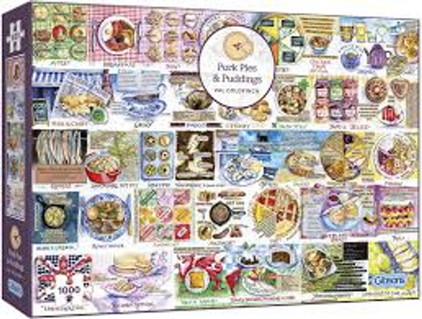 Gibson 1000 piece Jigsaw Pork Pies and Puddings