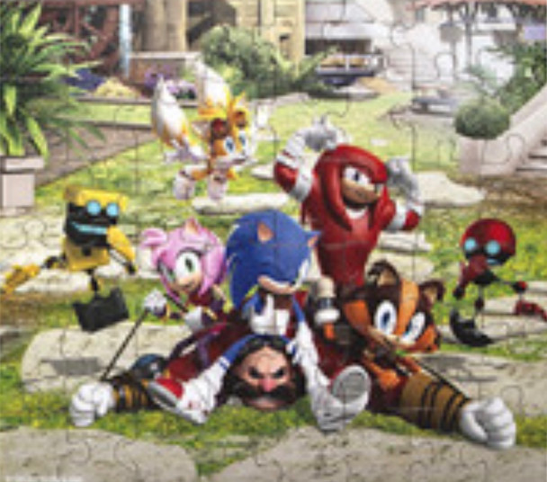 Sonic Boom Jigsaw in a bag