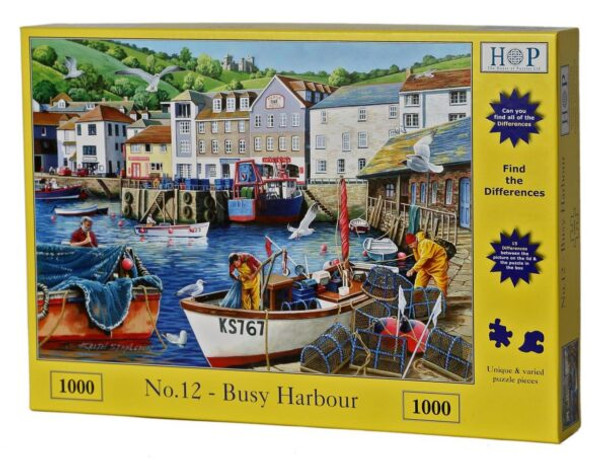House of Puzzles busy harbour 1000 piece jogsaw