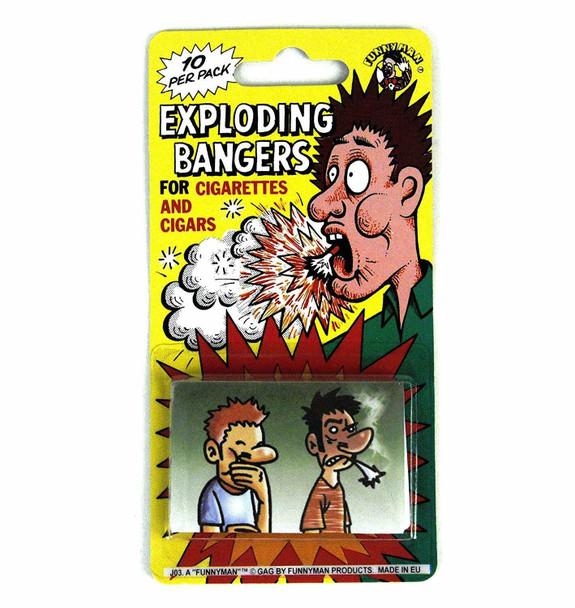 Exploding bangers for cigarettes