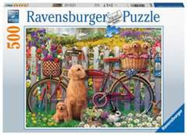 Ravensburger 500 piece jigsaw Cute dogs in the garden