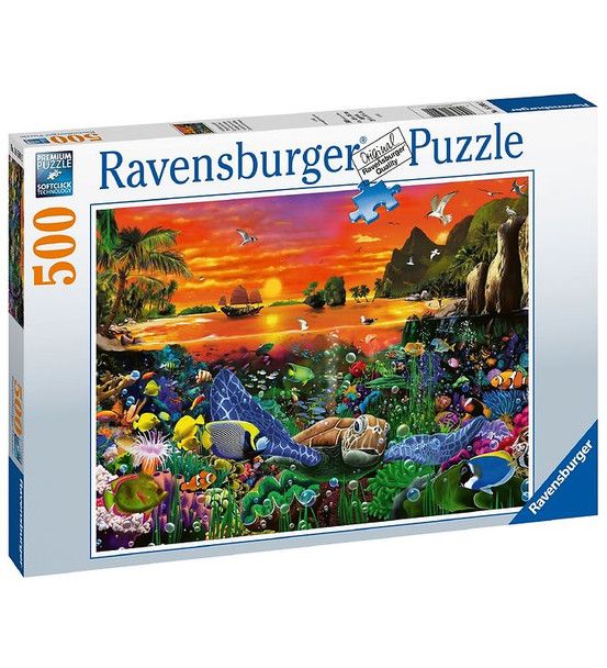 Ravensburger Puzzle - 500 Pieces - Turtle In The Reef