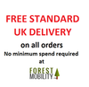 Free Standard UK Delivery on all UK Orders at Forest Mobility