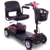 Pride Apex Rapid 4mph Travel Boot Scooter Small Red Blue With Basket Forest Mobility Thetford IP24