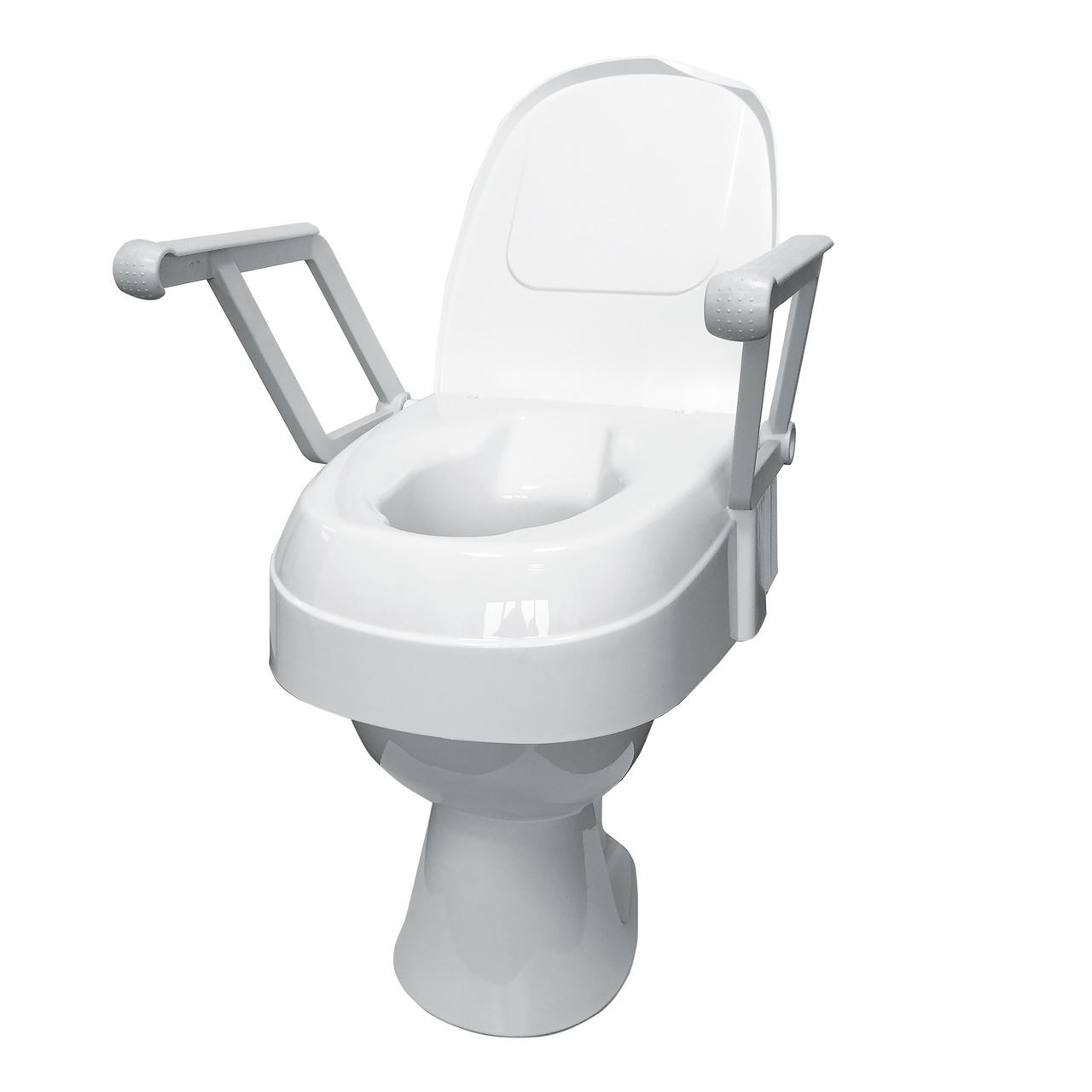 Drive Raised Toilet Seat With Arms.Drive Toilet Seat With Lid And Arms Forest Mobility