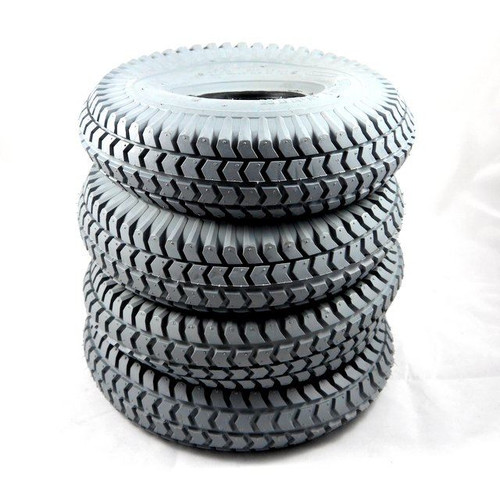 Set 4 Block Tread Grey Gray Innova Tyres for scooters