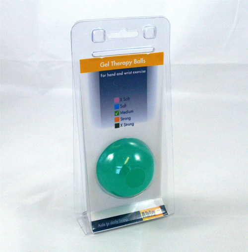 Green Hand and Wrist Exercise Therapy Ball for Squishing Physio Aid to gain Strength