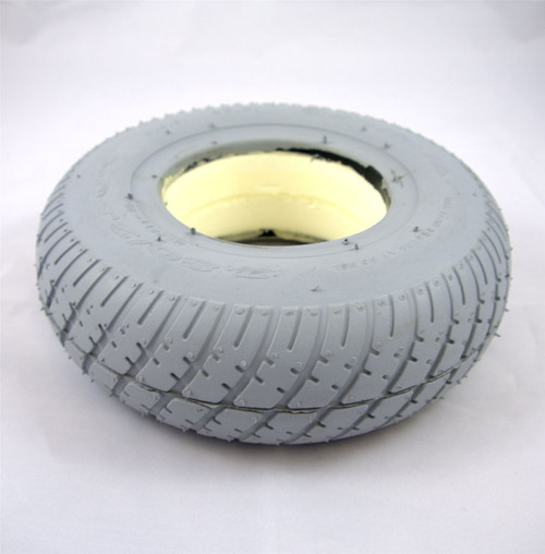 2.80/2.50-4 Solid Grey Puncture Proof Scooter Wheelchair Powerchair Tyre