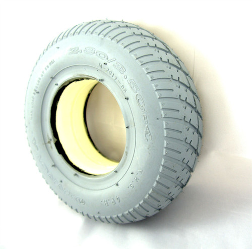 2.80/2.50-4 Solid Grey Puncture Proof Scooter Wheelchair Powerchair Tyre 280/250x4 Block Tread