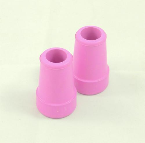 19mm Pink Ferrules Ferrals Crutch Tips Rubber Ends Fashion Pretty Nice Looking Walking Stick Crutch Cane