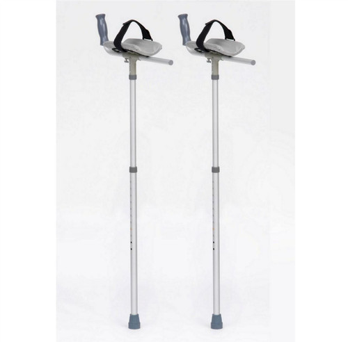 Padded Arm Forearm Rest Crutches with Velcro strap height adjustable platform adjustable lightweight crutches for arthritis and painful hand problems arm take the weight stick cane 19mm ferrules