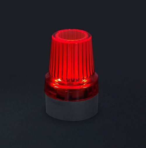 Red Flashing Light up Lit Up Glowing Crutch Tip Stick End Ferrule Safety at Night Time 19mm Black rubber base
