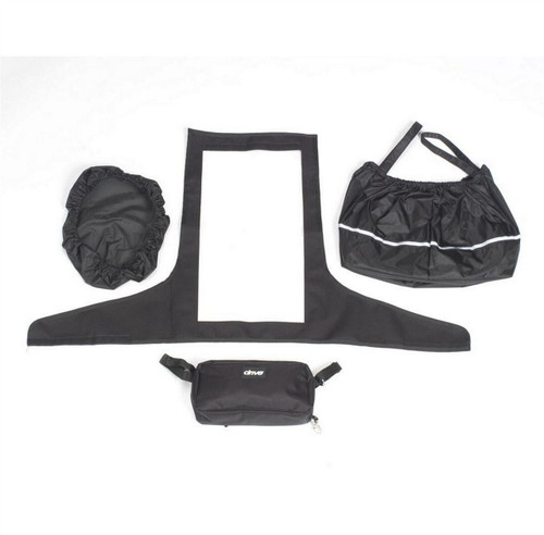 Drive Scooter Tiller Accessory Pack Set Basket Liner Basket Lid Waterproof Weather proof Clear Screen Bag